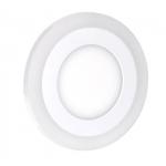 Solight LED podsvícený panel WD150, podhledový, 6W+3W, 400lm, 4000K, kulatý