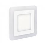 LED podsvícený panel WD153, podhledový, 12W+4W, 900lm, 4000K, čtvercový